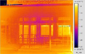 Снимок проходной центра тепловизором